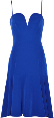 Milly Kelly Fluted Stretch-crepe Dress