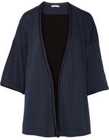 Skin - Karen Pima Cotton-jersey Robe - Storm blue
