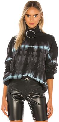 Frankie B. Claudette Ring Mock Neck Sweatshirt