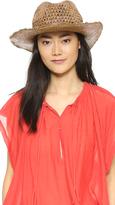 Hat Attack Raffia Cane Wave Continental Hat