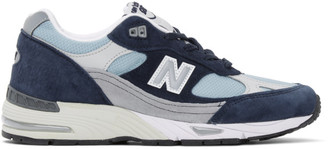 New Balance Navy Made In UK 991 Sneakers