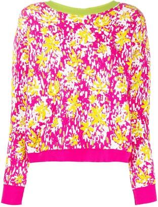 Marni Back Buttoned Floral Jumper
