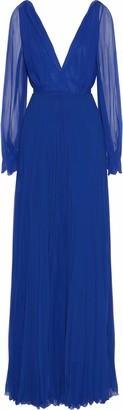 Victoria Beckham Pleated Silk-chiffon Gown