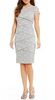 London Times Lace Shutter Sheath Dress
