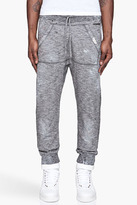 DSquared DSQUARED2 Black and white mottled Destroyed Sweatpants