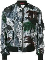 Oamc Painterly Floral Bomber Jacket