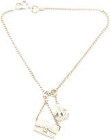 Chanel Rhinestone CC Flap Charm Bracelet