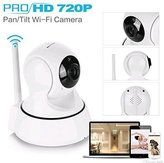 a2z SANNCE Mini Wireless IP 720P HD Home Surveillance Camera System Baby Monitor -Enhanced Wi-Fi 3dB Two Way Audio Night Vision App operated IOS Android White