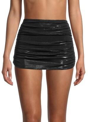 Norma Kamali Bill Ruched Bikini Skirt Bottom