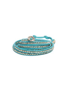 Chan Luu Turquoise Leather Wrap Bracelet