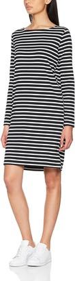Pieces Women's Pcingrid Ls Dress Noos Knee-Length Striped Long Sleeve Dress
