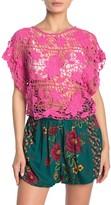 Angie Short Sleeve Crochet Crop Top