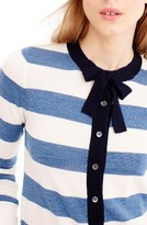 J.Crew Women's Jackie Tie Neck Stripe Cardigan