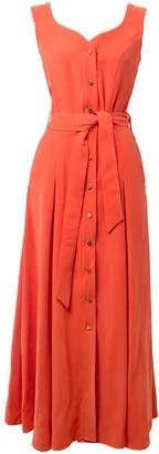 Tomcsanyi Balastya Salmon Multi Slits Dress