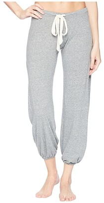 Eberjey Heather - The Cropped Pants (Heath Grey) Women's Casual Pants