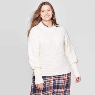 Universal Thread Women's Plus Size Crewneck Femme Pullover Sweater - Universal ThreadTM