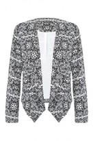 Select Fashion Fashion Womens Grey Aztec Waterfall Jacket - size 10
