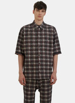 Men's Oversized Tweed Patterned Shirt In Black, Red And White €625