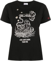 RED Valentino Love Lights more than Fire print T-shirt