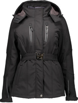 CB Sports Black Buckle-Front Hooded Coat