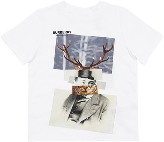 Burberry Printed Cotton Jersey T-Shirt