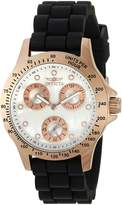 Invicta Women's 'Speedway' Quartz Stainless Steel and Silicone Casual Watch, Color: Black (Model: 21986)