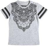 Hydrogen Kid Sugar Skull Print Cotton Jersey T-Shirt