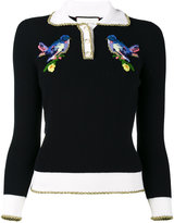 Gucci bird embroidered jumper