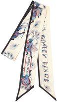 Emilio Pucci Bermuda Dance Print Silk Tie Scarf