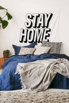 Urban Outfitters Stay Home Text Tapestry