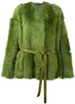 Rochas belted shearling jacket