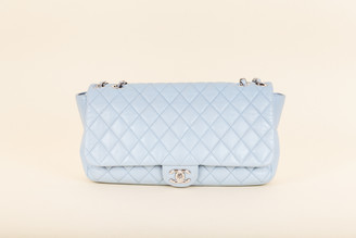 Chanel Calfskin Quilted Wide Flap Bag