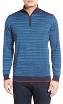 Bugatchi Quarter Zip Cotton Sweater