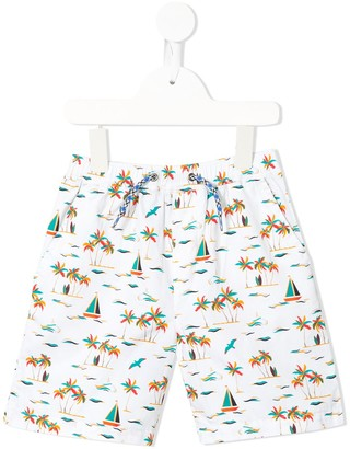 Velveteen Luca tropical print shorts