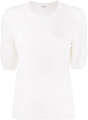 Malo Short-Sleeve Knitted Top