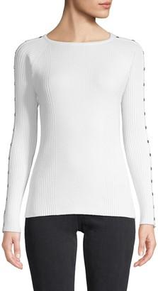 Love Token Jen Studded-Sleeve Sweater
