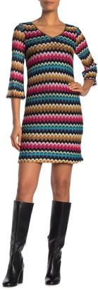 Trina Turk Orchestra Chevron Mini Dress (Regular & Plus Size)