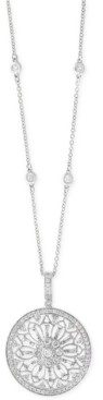 """Effy Diamond Filigree Pendant 18"""" Necklace (1 ct. t.w.) in 14k Gold, White Gold or Rose Gold"""