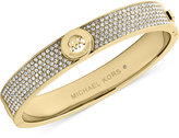 Michael Kors Crystal Pavê Logo Bangle Bracelet