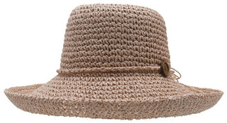 Morgan & Taylor Turn Up Hat With Button Trim Summer Hats