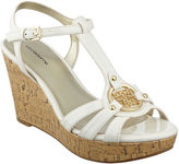 Liz Claiborne Kattie Logo Wedge Sandals
