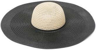 Forever New Naomi Floppy Hat - Black/ Natural - 00