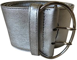 Prada Silver Leather Belts