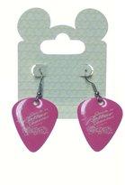 Disney Rockn Roller Coaster Aerosmith Guitar Pick Pink Earrings