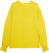 Jil Sander Silk-satin Top - Yellow