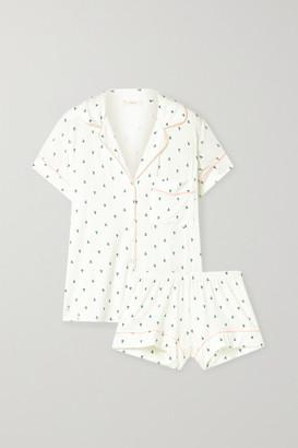 Eberjey Gisele Printed Stretch-modal Pajama Set - Ivory