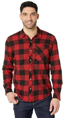 tentree Benson Button Up Long Sleeve (Benson Plaid Meteorite) Men's Clothing