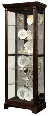 Napier Lighted Curio Cabinet Darby Home Co
