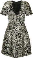 Yigal Azrouel graphic patchwork dress - women - Polyester - 0