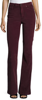 Paige High Rise Bell Canyon Corduroy Pants, Midnight Plum